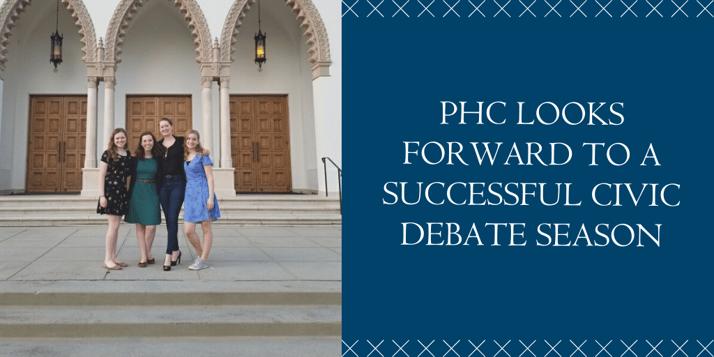 PHC Looks Forward to Successful Debate