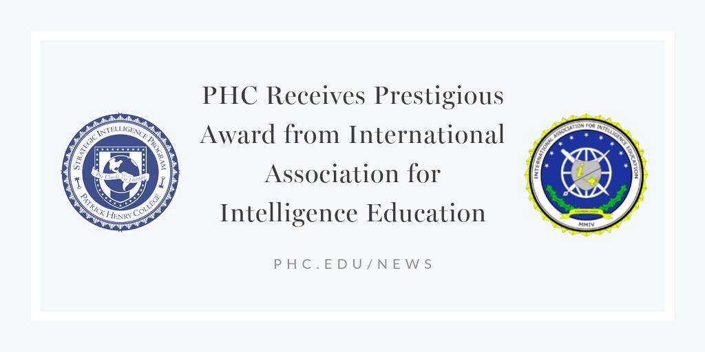 PHC Receives Prestigious Award from International Association for Intelligence Education (1)