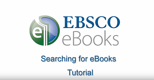 EBSCO eBooks - Searching