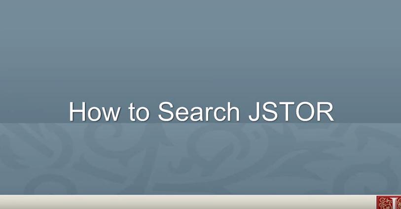 JSTOR: Platform Overview