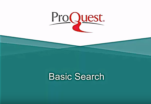 ProQuest Basic Search