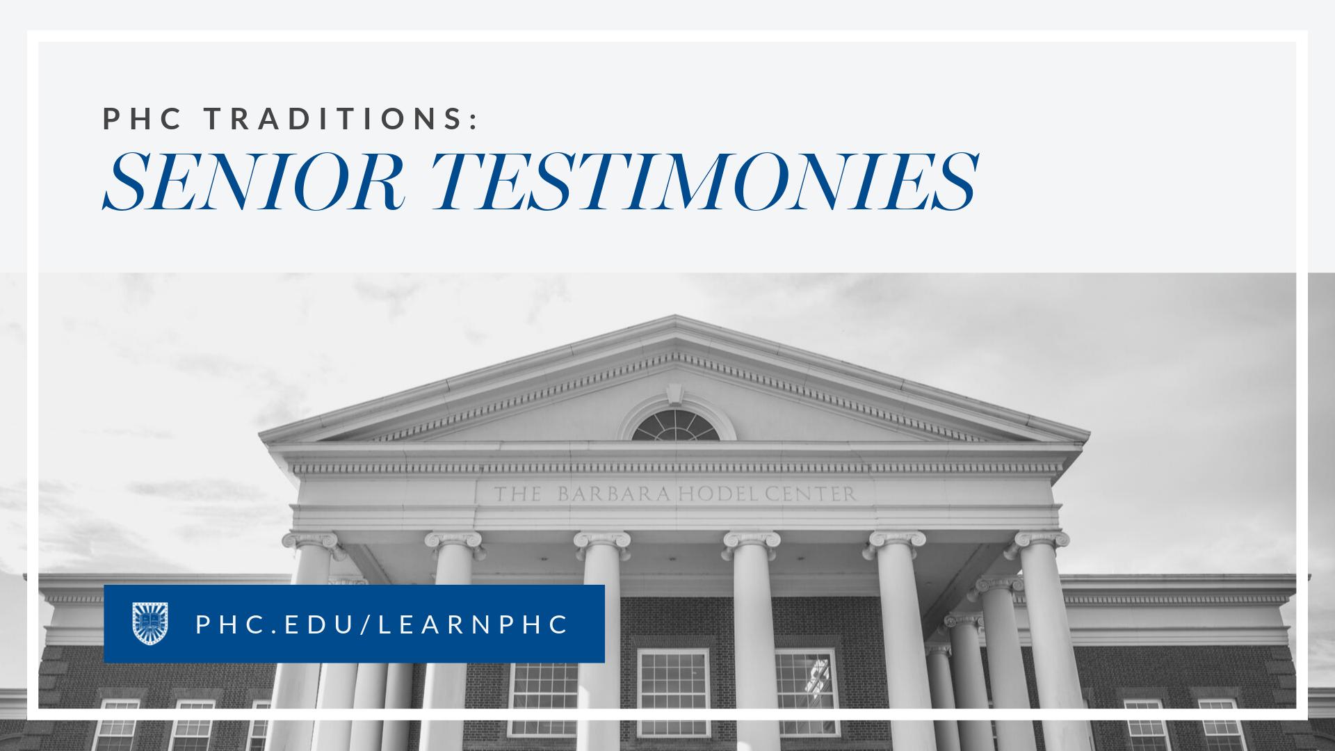 Senior Testimonies