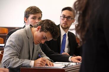 PHC students participate in mock trial