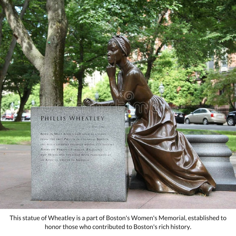 This statue of Wheatleyis a part of Boston's Women's Memorial (1).jpg
