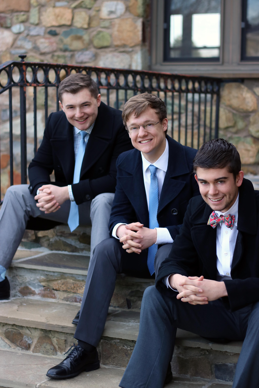 Patrick Henry College (PHC) students Daniel Thetford, Matt Hoke, and Ian Frith