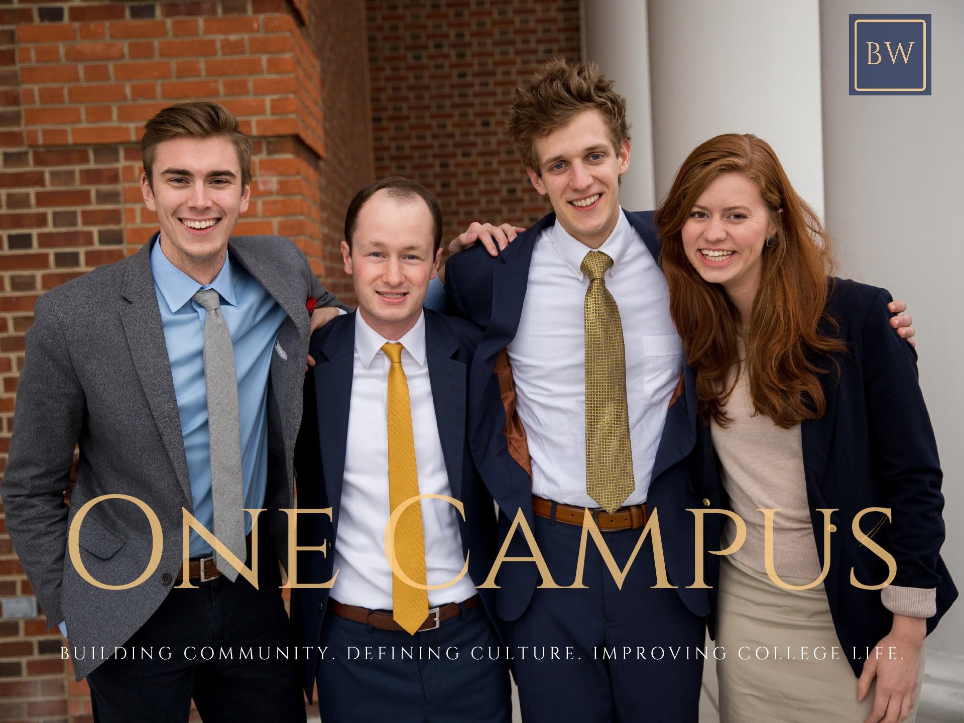 Patrick Henry College (PHC) students Shane Roberts, William Bock, Josh Webb, and Meridian Paulton