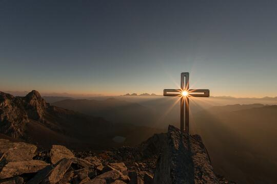 The cross at dawn