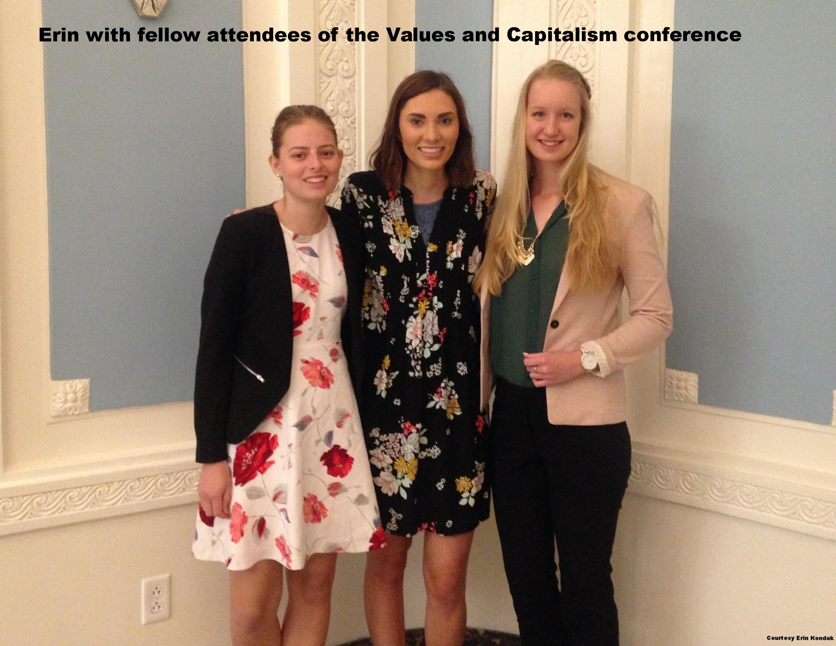 Erin Kondak at a conference