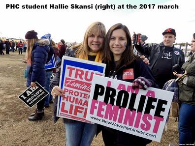 PHC student at 2017 march