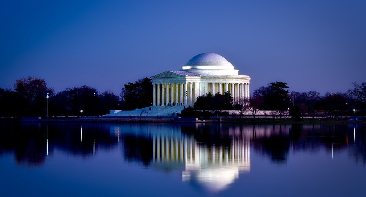 Jefferson Memorial at night Washington D.C.