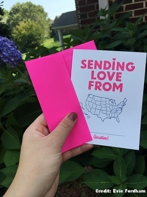Keep in touch by writing a card