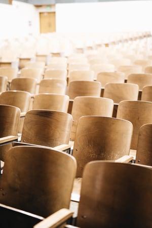 Audience awaiting a speech