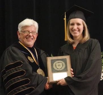 President Haye at graduation