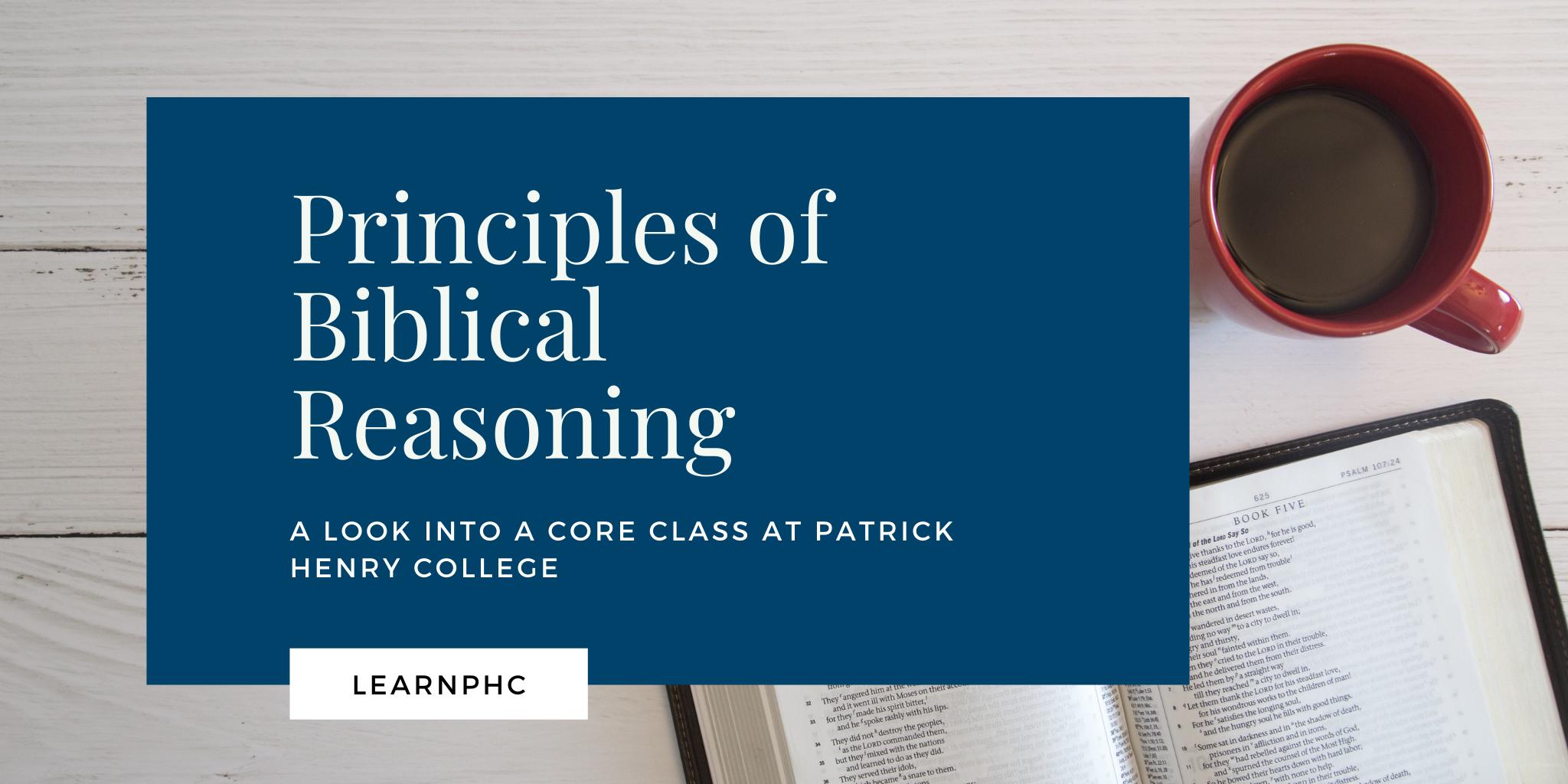 principles of Biblical reasoning