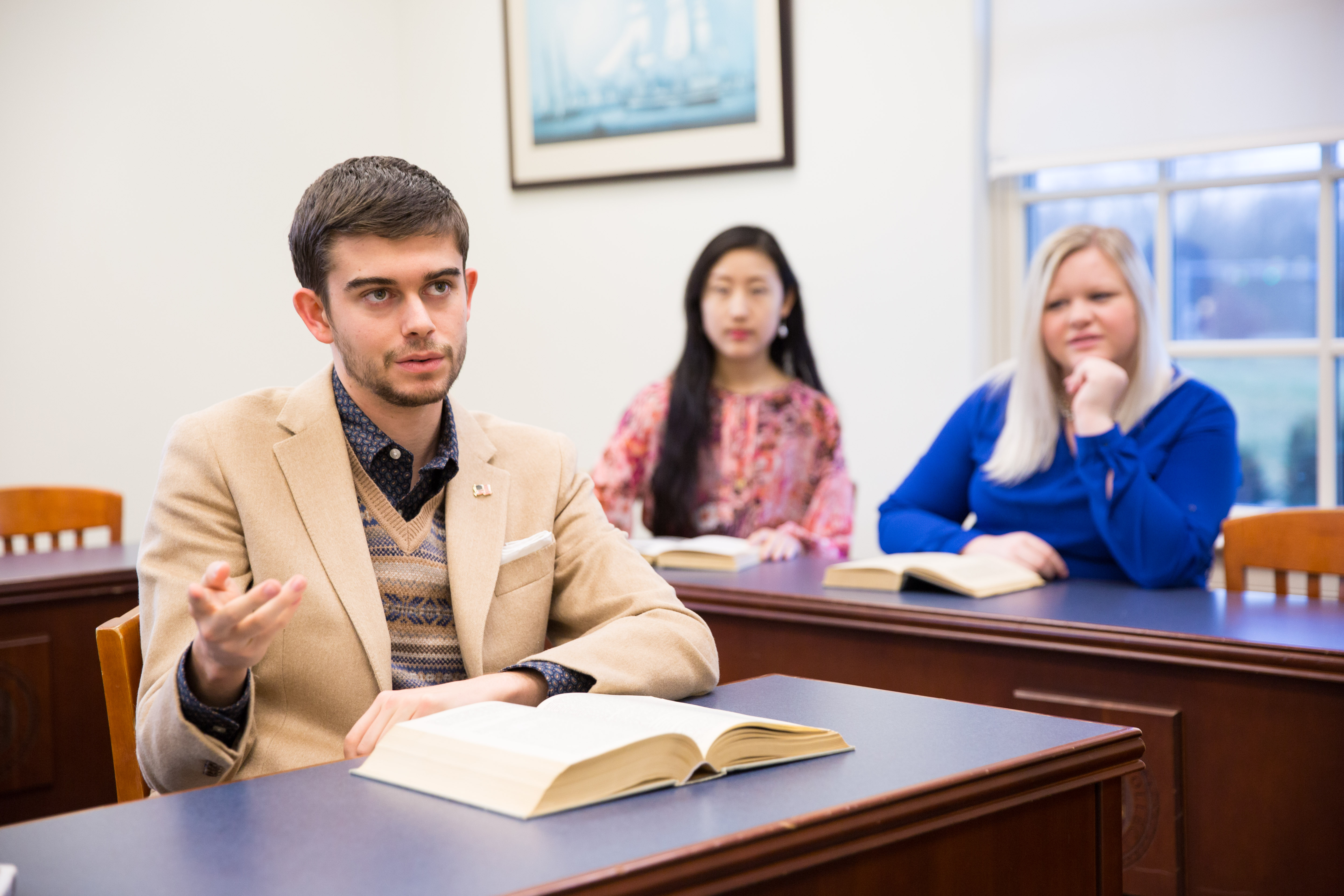 Patrick Henry College students ask questions in class, academic life at PHC
